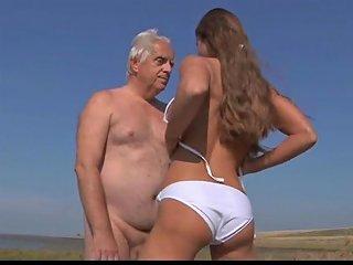TXxx Sex Video - Big Titty Teen Fucks Wrinkled Oldman On The Beach Txxx Com