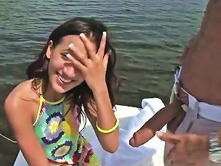 NuVid Sex Video - Tiny Girl On A Boat Sucks Big Dick